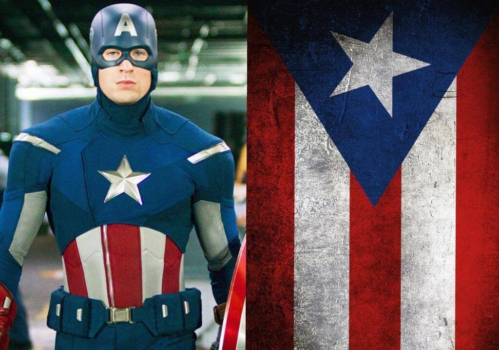Captain America continues to be one of the most beloved characters in the superhero universe and with his suit he continues to represent a curious characteristic that more and more people continue to notice. The next time you see this super soldier, remember him as Captain Puerto Rico.