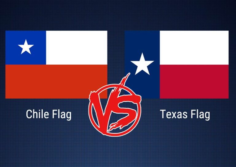 Chile Flag vs Texas Flag