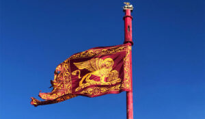 Flags with Lion