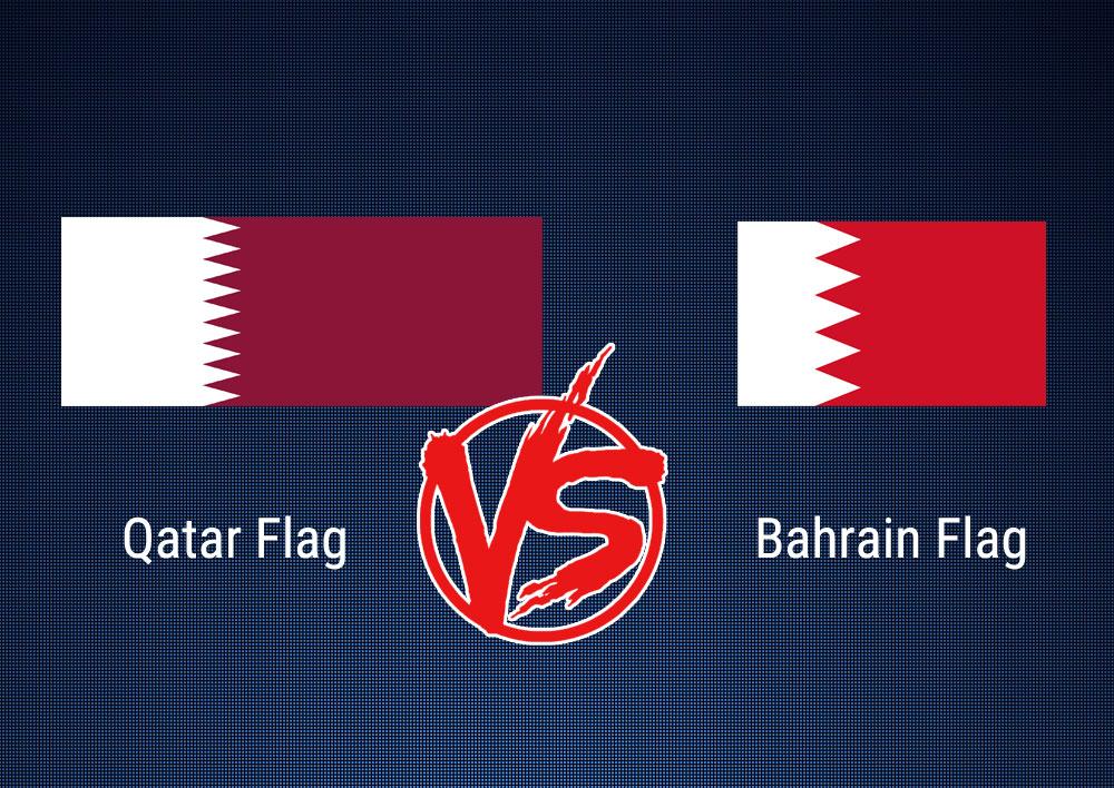 Qatar flag vs Bahrain flag