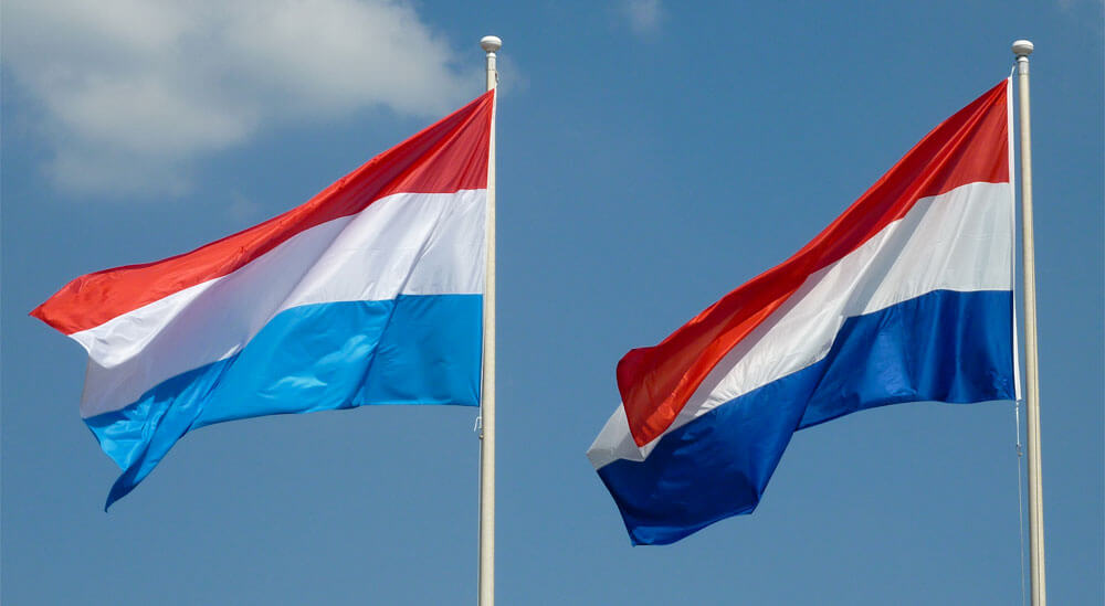 Netherlands flag vs Luxembourg flag