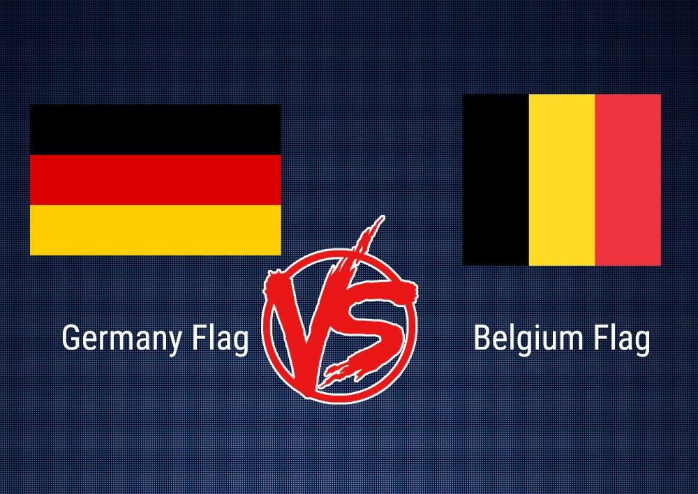 Germany Flag Vs Belgium Flag